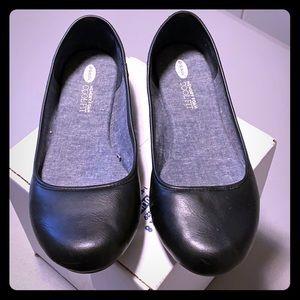 Basic black flats, Dr Scholls, size 11
